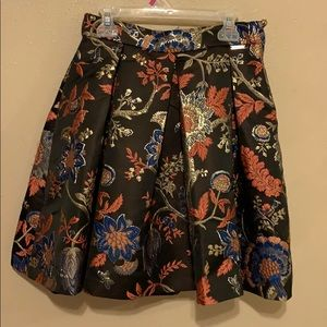Guess skirt black with flower designs
